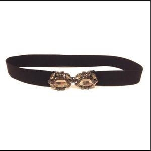 BCBGMAXAZRIA STONE FAUX DIAMOND STRETCH BELT
